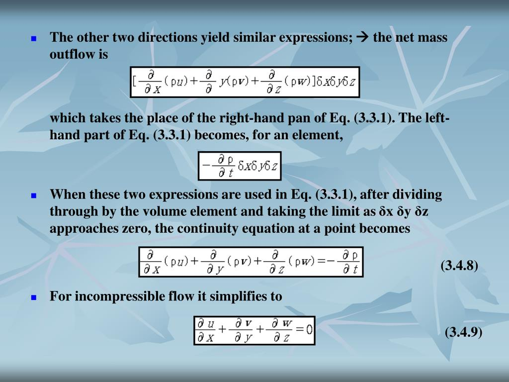 The other two directions yield similar expressions;