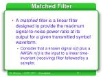 matched filter51