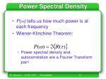 power spectral density12