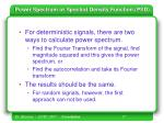 power spectrum or spectral density function psd