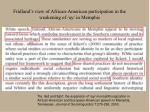 fridland s view of african american participation in the weakening of ay in memphis