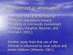 enhancement or attenuation