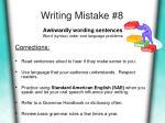 writing mistake 8