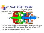 2 nd gear intermediate