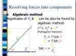 resolving forces into components19
