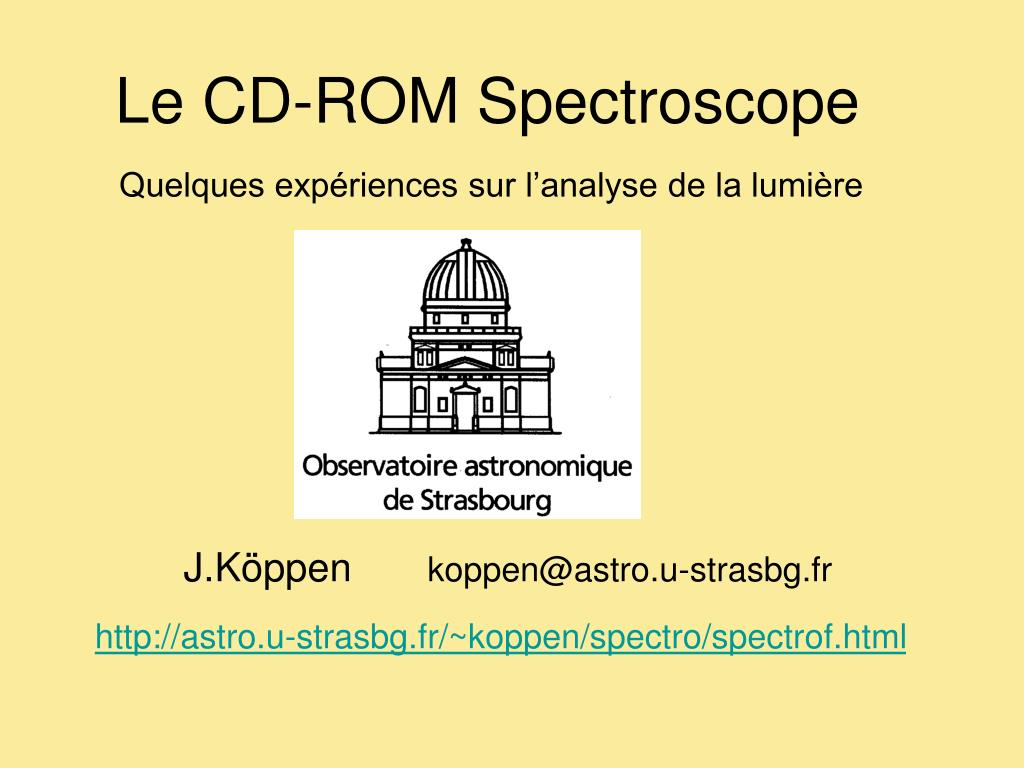 le cd rom spectroscope l.