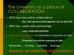 the university as a place of collaboration