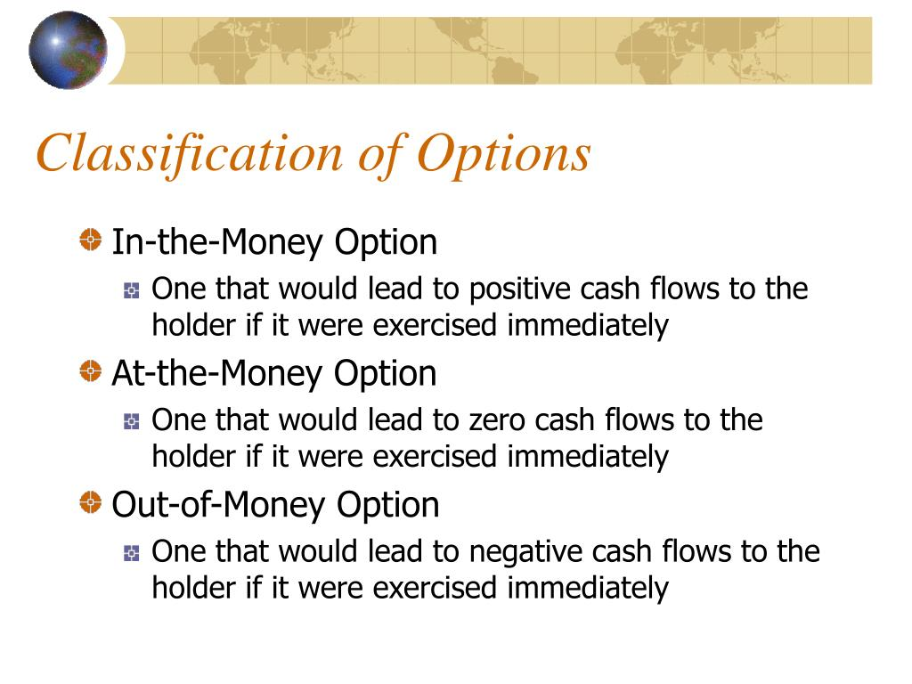 Classification of Options