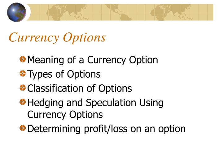 Currency options2