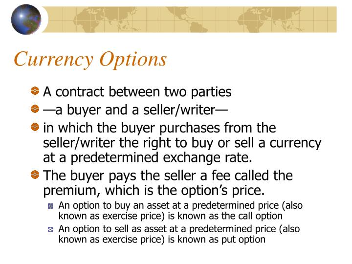 Currency options3