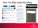 now the rise of the microblog