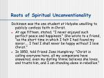roots of spiritual unconventionality