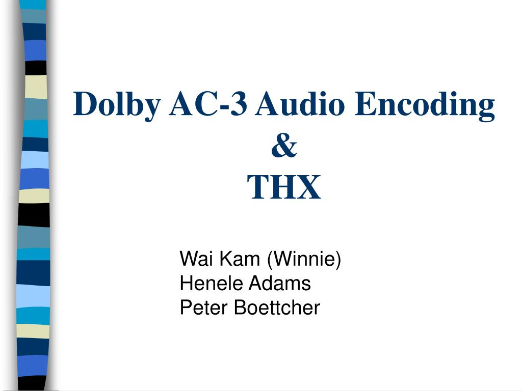 dolby ac 3 audio encoding thx l.