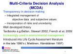 multi criteria decision analysis mcda