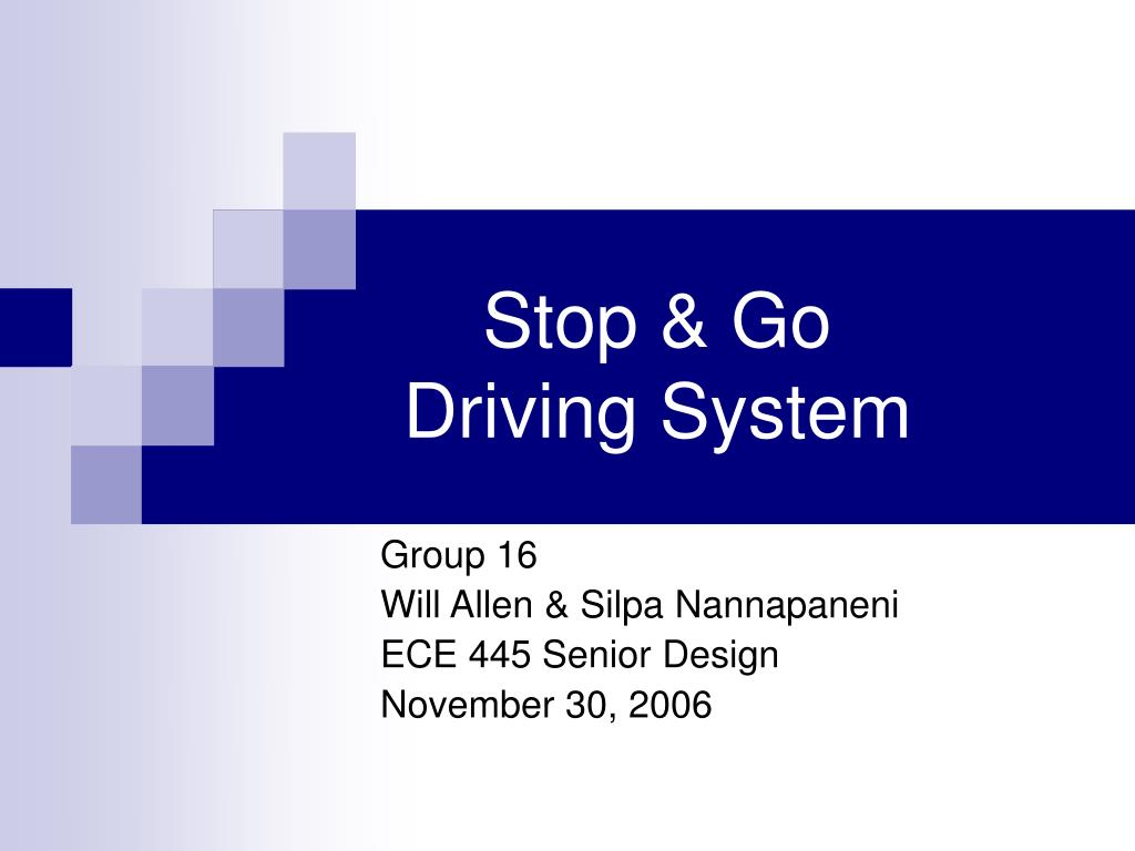 stop go driving system l.