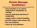 potato storage ventilation