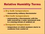 relative humidity terms