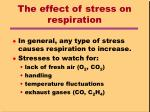 the effect of stress on respiration