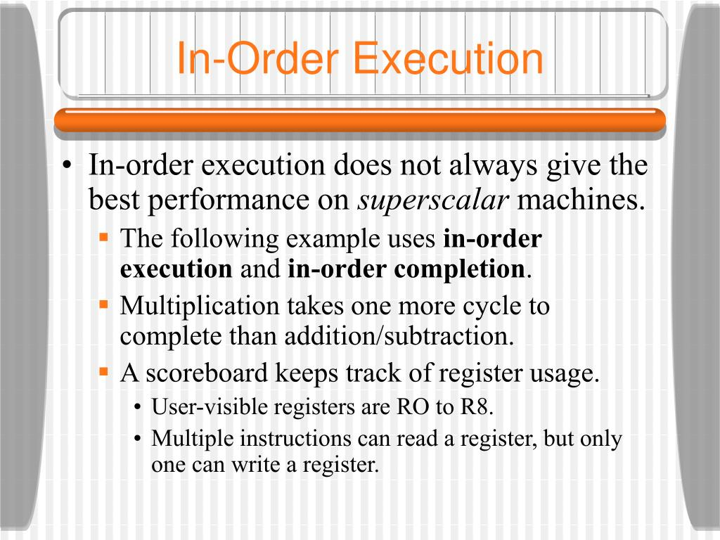 in order execution l.