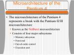 microarchitecture of the pentium 4
