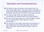 discussions and conclusions cont21