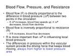blood flow pressure and resistance