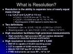 what is resolution