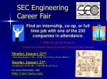 sec engineering career fair