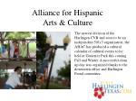 alliance for hispanic arts culture