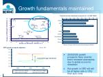 growth fundamentals maintained