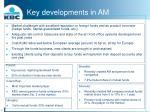 key developments in am12