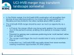 uci hvb merger may transform landscape somewhat