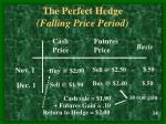 the perfect hedge falling price period
