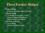 three farmer hedges