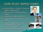 core study baron cohen