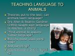 teaching language to animals