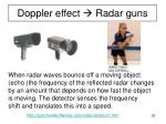 doppler effect radar guns