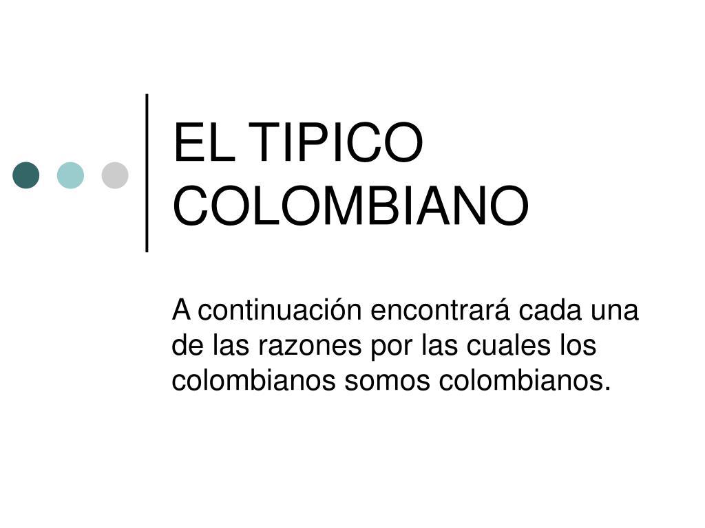 el tipico colombiano l.