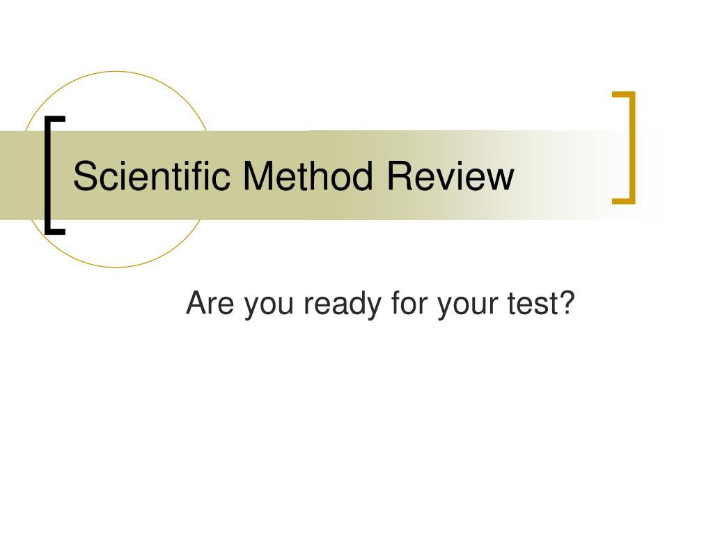 scientific method review l.