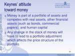 keynes attitude toward money