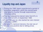 liquidity trap and japan