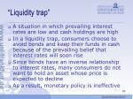 liquidity trap