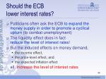 should the ecb lower interest rates