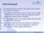 unit of account