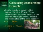 calculating acceleration example30
