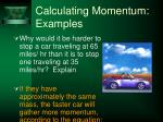 calculating momentum examples37