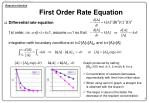 first order rate equation
