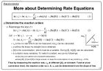 more about determining rate equations13