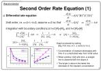second order rate equation 1