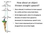 how about an object thrown straight upward
